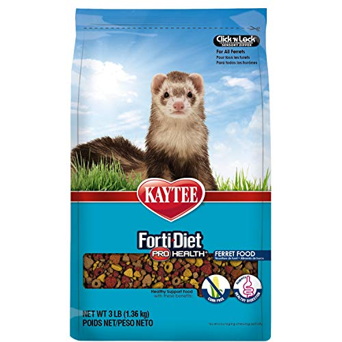 Kaytee Forti Diet Pro Health Small Animal Food For Ferrets, 3-Pound