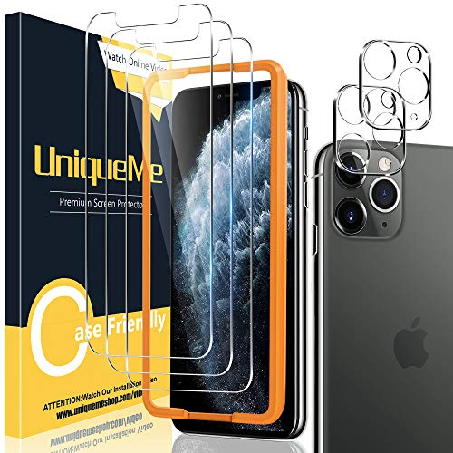 [2+3 Pack] UniqueMe Camera Lens Protector and Screen Protector for iPhone 11 Pro Max 6.5