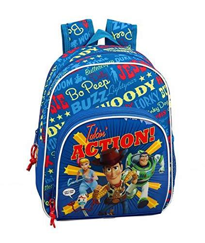 Toy Story 4 Mochila Pequeña Niña Adaptable Carro  Azul