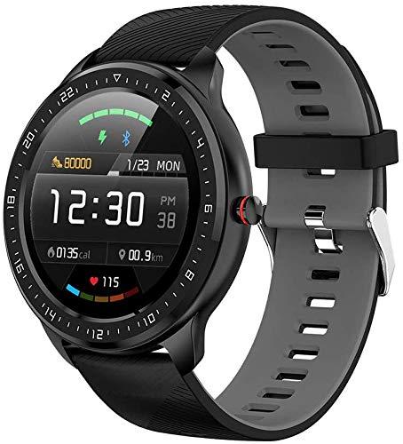 NO BRAND Z06 Reloj Inteligente para Hombres Monitor de Ritmo cardíaco Bluetooth de 1.3 Pulgadas Rastreador de Ejercicios Reloj Inteligente Deportivo Gris