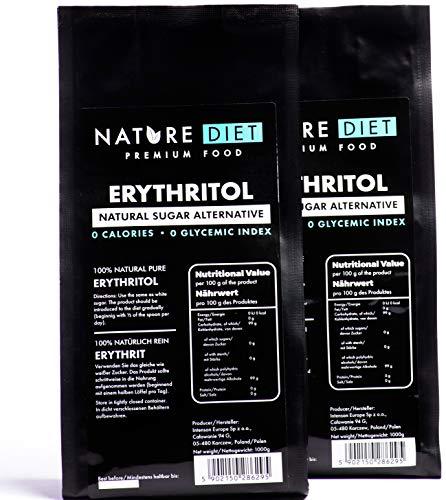 Nature Diet - Eritritol, 2 x 1000 g