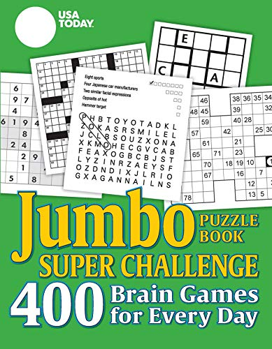 USA TODAY Jumbo Puzzle Book Super Challenge: 400 Brain Games for Every Day (Volume 27) (USA Today Puzzles)
