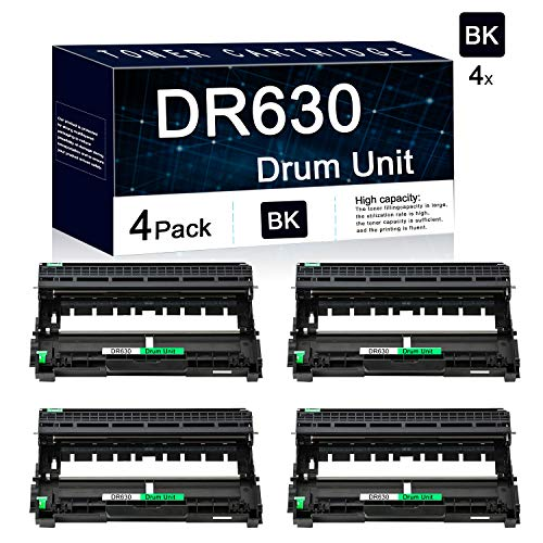 Compatible 4 Pack Black DR630 Drum Unit Used for Brother HL-L2300D HL-L2305W HL-L2315DW HL-L2320D;Brother MFC-L2680W MFC-L2685DW MFC-L2740DW; Brother DCP-L2520DW DCP-L2540DW Printers. -  TbToner, DR630-4PK