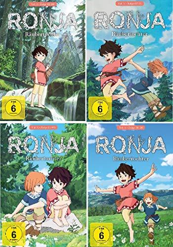 Ronja Räubertochter (Ghibli) Vol. 1-4 im Set - Deutsche Originalware[4 DVDs]