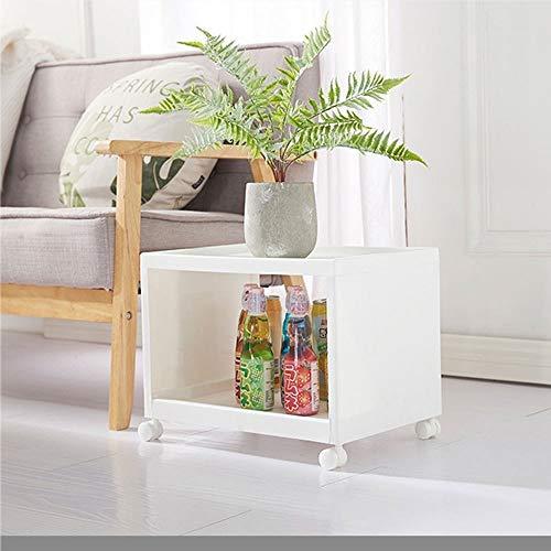 GHUS rek, wit creatief opvouwbare multilayer optionele locker, keuken, woonkamer badkamer halsketting opslagracks, multifunctionele bewegende planken