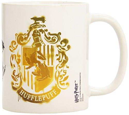 Kaffeetasse-Hufflepuff Stencil Crest