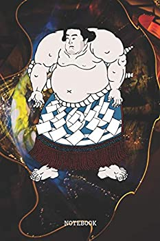 Notebook  Great Sumo Sports Training Artwork Design Sumo Martial Arts Planner / Organizer / Lined Notebook  6  x 9