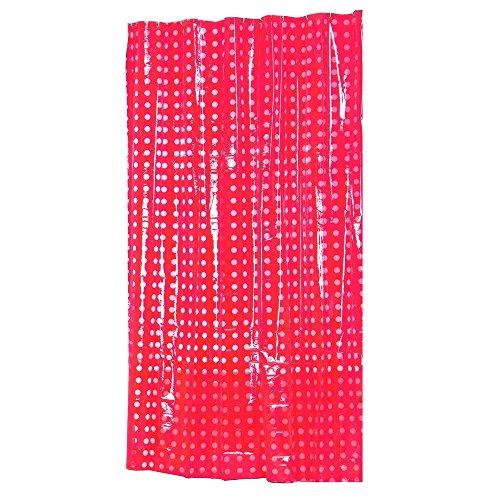 MSV Duschvorhang, Rot, 12 cm cm