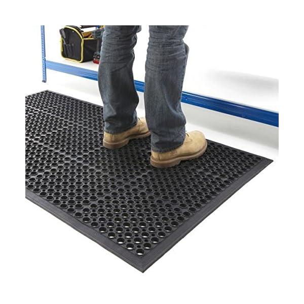 The Shopfitting Shop Large Outdoor Rubber Entrance Mats Anti Fatigue None Slip Drainage Door Mat Flooring Size 0.9 Metre…