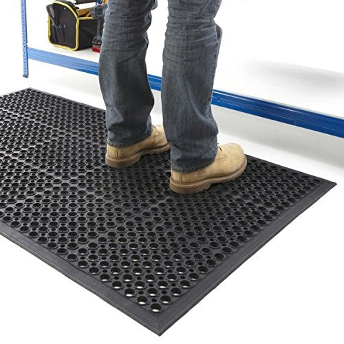 The Shopfitting Shop Large Outdoor Rubber Entrance Mats Anti Fatigue None Slip Drainage Door Mat Flooring Size 0.9 Metre x 1.5 Metre