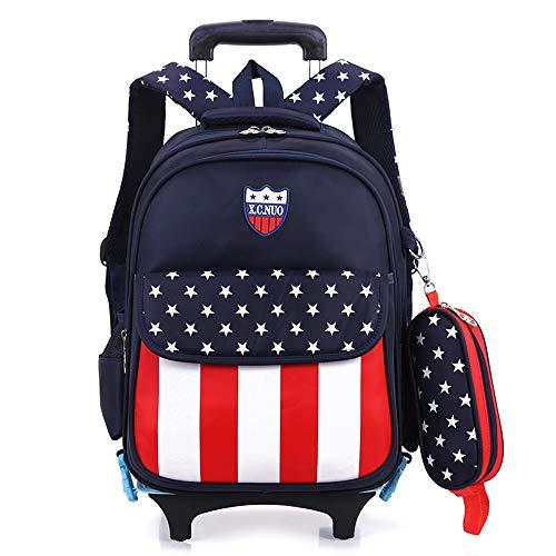 子供 2Way キャリーケース ランドセル 着脱式 旅行 トロリー 学生スーツケース ボーイズ ガールズ 小学生 撥水加工 バック (ブラック)