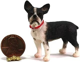 Dollhouse Miniature 1:24 Scale Boston Terrier Dog by Falcon Miniatures