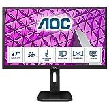 AOC Q27P1 - 27 Zoll QHD Monitor, höhenverstellbar (2560x1440, 60 Hz, VGA, DVI, HDMI, DisplayPort,...