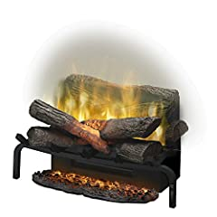 Stunning Revillusion flame technology - larger & brighter flames Flame effects mimic real flames & glowing ashmat adds to realism Creates supplemental warmth for up to 400 Sq. Ft. Molded logs glow from within Multi-function remote operates heater, fl...