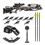 TenPoint Titan M1 370 FPS Crossbow with ProView 3 Scope and ACUdraw Cocking Kit with Three HME Hunting Broadheads (4 Items)