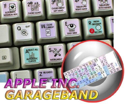 GARAGEBAND Galaxy Series New Keyboard Labels Shortcuts 12X12 Size