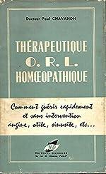 Thérapeutique ORL homéopathique de Paul Chavanon