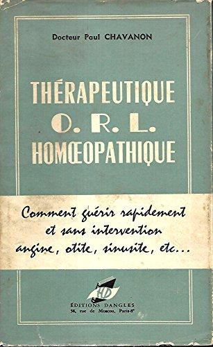 Thérapeutique ORL homéopathique