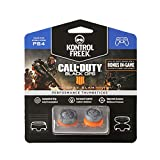 KontrolFreek Call of Duty: Black Ops 4 Grav Slam for PlayStation 4 (PS4) and PlayStation 5 (PS5) | Performance Thumbsticks | 1 High-Rise Convex, 1 Mid-Rise Convex | Gray/Orange