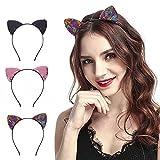 Frauen Mädchen Stirnbänder Haarreifen für tägliches Tragen Make-up Katzenohren Party Verkleidung Katze Frauen Haarband Cosplay - - Einheitsgröße
