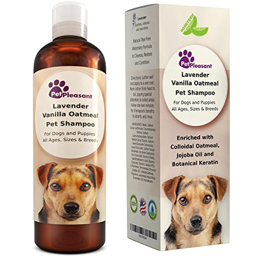 Vanilla Oatmeal Dog Shampoo with Lavender - Colloidal Oatmeal Dog...