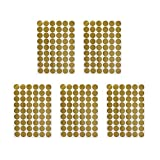 VOSAREA 5 Piezas de Lunares Dorados calcomanías de Pared círculo Redondo Vinilo Brillo Arte Pegatina Mural Papel Tapiz para guardería decoración de habitación