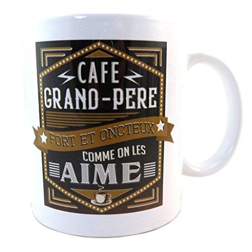 Les Trésors De Lily Becher-zartheit 'Café Grand Père - Fort Et Onctueux - Comme On Les Aime'weißer schwarzer kaffee.
