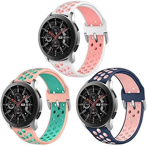 Abasic kompatibel mit Huawei Watch GT/GT 2e / GT 2 (46mm) Armband, Silikon Uhrenarmband Sportarmband (22mm, Pattern 2)