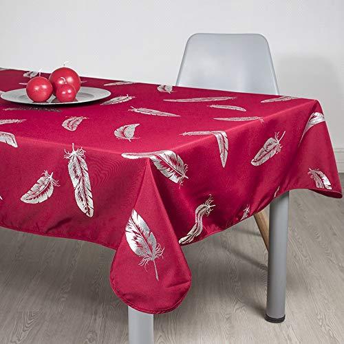 Villages de Provence Rechteckige, schmutzabweisende Tischdecke - knitterfrei und aus 100% Polyester - XXX - Rouge, 300x150cm, Rectangulaire