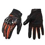 guanti moto,Guanti da motocicletta traspiranti guaina in fibra di vetro cavaliere locomotiva anti-caduta guanti da dito pieno maschio l arancio c