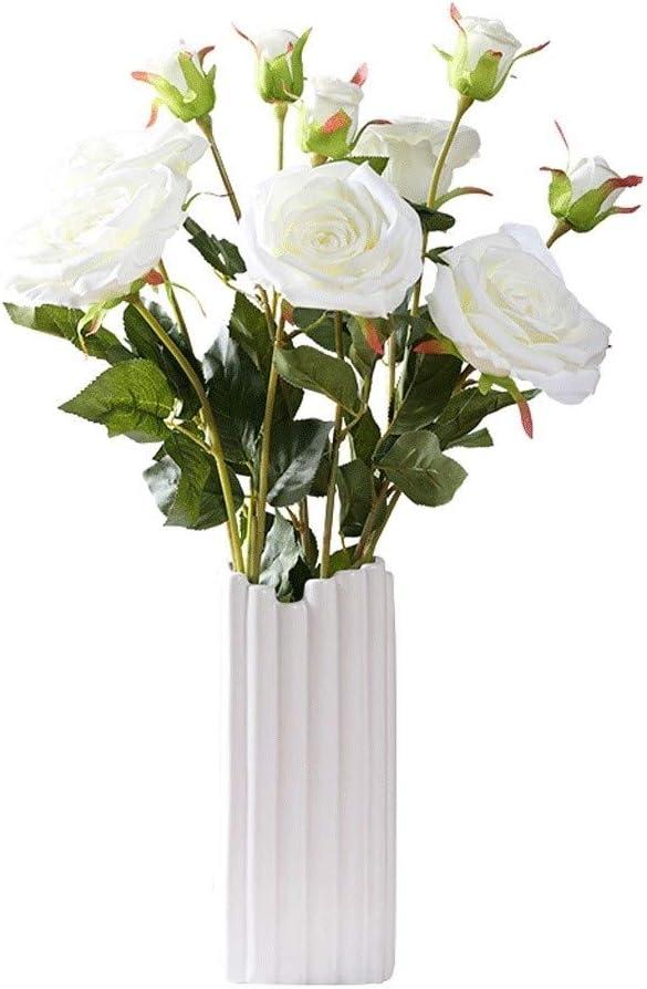 WTREA Artificial Silk Flower Plastic Ranking TOP19 Simulation Rose Fake Soldering