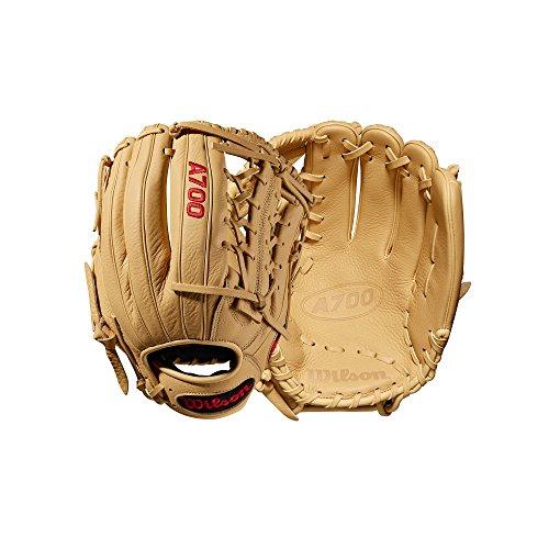 Wilson Unisex-Youth A700 Baseball Gloves, Dark Brown/White, 12 Inch