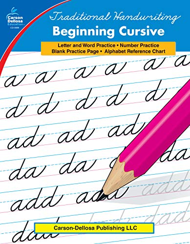 Carson Dellosa | Beginning Cursive Resource Workbook | 2nd–5th Grade, 32pgs (Traditional Handwriting)