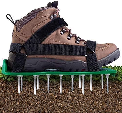 Zapatos Aerador de Cesped, Ohuhu Aireador de Cesped Zapatos, Zapatos Jardín de Césped, Césped Spikes Sandalias para tu Césped, Jardín, Jardinería