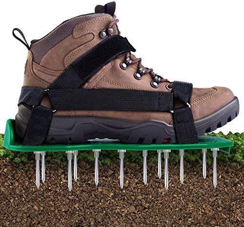 Lawn Aerator Shoes, Ohuhu Garden Grass Aerator Spiked Sandals with Hook &...