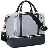 CAMTOP Women Mens Travel Weekender Bag Overnight Duffel Carry-on Tote Bag fit 15.6
