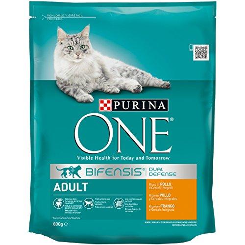 Purina One Bifensis Crocchette per il Gatto Adulto, Ricco in Pollo e Cereali Integrali, 800g
