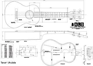Plan of Tenor Ukulele - Full Scale Print
