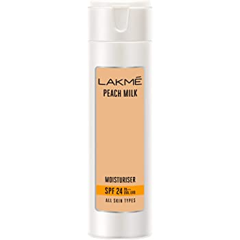 Lakme SPF 24 PA Sunscreen Moisturiser,Peach Milk, 200ml