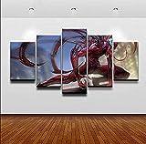 SZQY Gemälde 5 Panel Leinwanddrucke Hd Wandkunst Gemälde Bild Poster Wandbilder Drucken Für Wohnkultur 150×80Cm/ Komisches Schlachten
