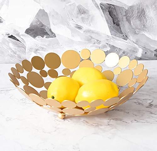 Grand bol décoratif en métal pour fruits et légumes, pain, bonbons et autres articles de la maison 30 cm