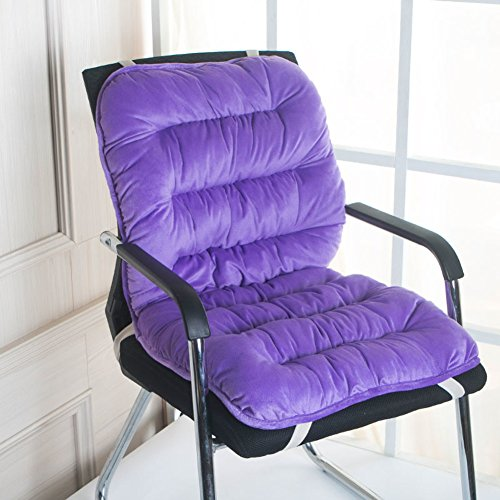 xdvdfvbdf Thick Rocking Chair Cushion,Soft Chair Pad Car Office Dining,seat Pads Back Cushion Set,not-Slip Universal Cushion Ties Purple 45x90cm(18x35inch)