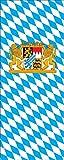 flaggenmeer® Flagge Bayern mit Wappen und Löwen 160 g/m² ca. 300 x 120 cm mit Hohlsaum für Ausleger