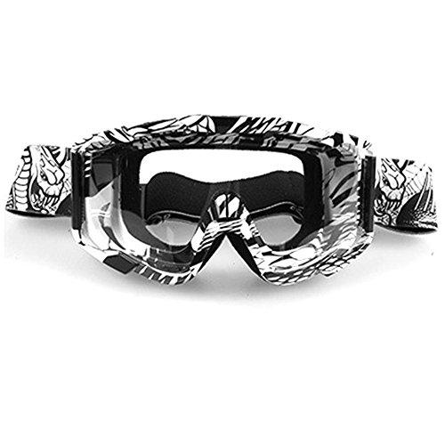 Favourall Gafas Moto para Actividades Exteriores para Bicicleta Moto Cross Montaña esquí Snowboard Ciclismo Lente Diseño Transparente Anti UV Goggles A03