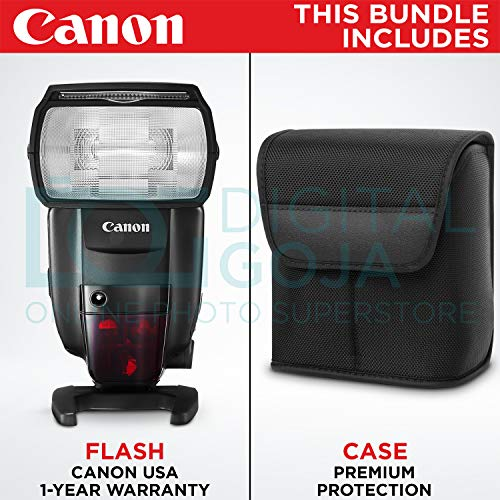 Canon Speedlite 600EX II-RT Flash w/Essential Photo Bundle – Includes: Altura Photo Softbox Flash Diffuser, AA Rechargeable Batteries w/Charger, Camera Cleaning Set