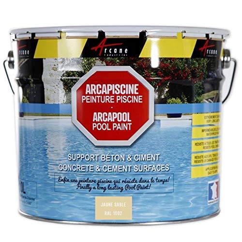 Schwimmbadfarbe - Schwimmbeckenfarbe - Poolfarbe für Betonbecken, Poolbeschichtung ARCAPISCINE - Sandgelb RAL 1002-2,5 l