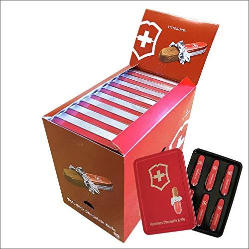 Originale Schweizer Schokoladen Messer in der 6er Geschenkbox