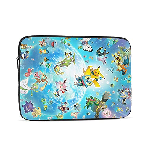 Pokemon Laptop Case Laptop Bag Protective Bag, Portable Computer Bag, Laptop Bag Shockproof Briefcase Multifunctional Handbag12 Inch