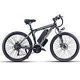 26' Bicicleta Eléctrica Urbana, 500W/1000W 48V 13Ah Bicicletas Electricas de Montaña E-Bike, Bicicleta Electrica Adulto Unisex