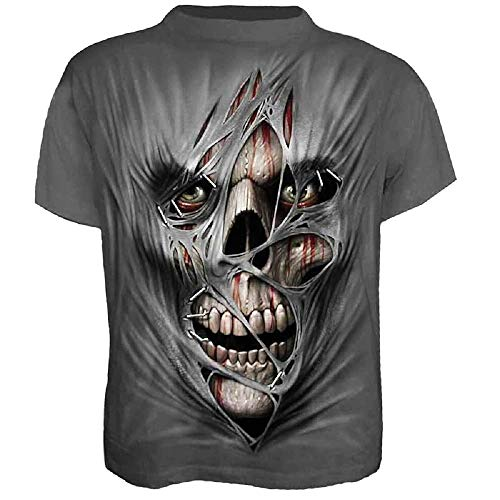 Camisa - Camiseta Zombie - Camisa Calavera - Calavera - Horror - Momia - Manga Corta - 3D - Mujer - Mujer - Hombre - Hombre - Divertido - Unisex - Idea de Regalo Original - Talla XXL - c08